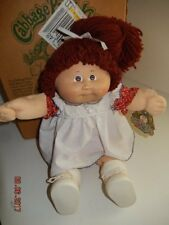 "1983 Vintage CABBAGE PATCH DOLL 16"" girl with reddish brown hair"