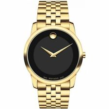 Movado 0606997 Museum Classic Black Dial Yellow PVD Men's Watch