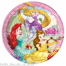"DISNEY PRINCESS Paper Plate Birthday Party Supplies Tableware Big 9"" PLATES x8"