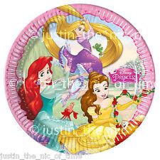 """DISNEY Princess Piastra Di Carta Festa di Compleanno Forniture stoviglie BIG 9"""" PIASTRE x8"""
