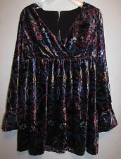 NWT FREE PEOPLE Tunic Blue Abstract Print Size Small Unique free shipping