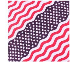 "Stars And Stripes  22""x22"" Military Cotton Biker Bandana US Flag Rothco 4145"