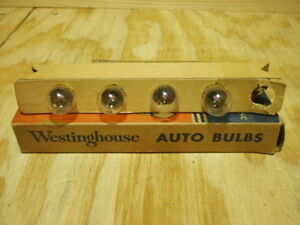 Westinghouse # 68 Buick Oldsmobile Pontiac 12 volt courtesy lamp bulbs 4 ea NOS!