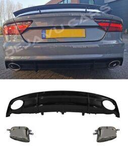 RS7 Look Heck Diffusor Heckansatz für Audi A7 4G S line / S7 Sportback Facelift