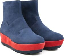 Women Camper Wedge Boots Laika Blue And Red Suede Size 39 US9