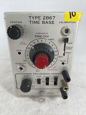 Vintage Tektronix Type 2b67 Time Base Plug In Parts Or Repair