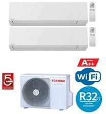 TOSHIBA SHORAI EDGE WIFI R32 CONDIZIONATORE DUAL SPLIT 7000+7000 7+7 BTU A++