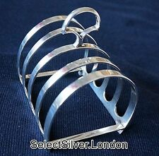 Vintage Solid Sterling Silver Toast Rack / Letter Holder, London 1933 made by DF