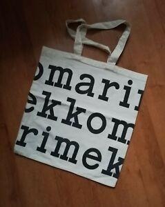 "MARIMEKKO BLACK LOGO Organic Cotton Tote Bag 17 x 18"""