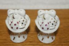 """New In Box Lenox Easter Basket Salt And Pepper Which Are 2"""" X 1 3/4"""""""