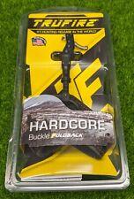 TruFire Hardcore Arrow Release Black Buckle Foldback Strap, Black - HDBBLKF