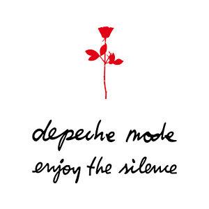 10cm Rose rot + 20cm depeche mode + enjoy the silence schw Auto Aufkleber Tattoo