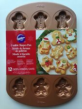 Wilton Cookie Shapes Pan 12 Cavities Gingerbread Man Woman Boy Girl Design New