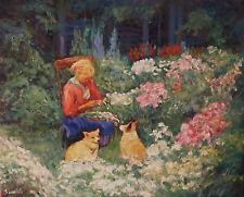 """Garden Yard, Sean Wu original 16x20"""" oil on stretched canvas"""