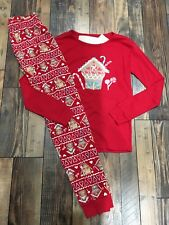 Gymboree Gingerbread House Girls Holiday Christmas Red Candy Pjs Nwt Size 14