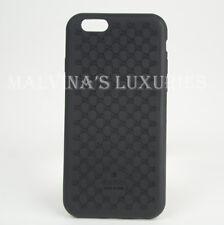 GUCCI iPHONE 6 CASE COVER BLACK BIO-PLASTIC GG GUCCISSIMA LOGO
