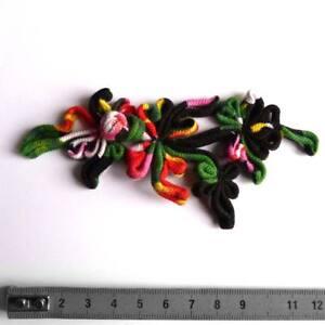 1 grande boutonnière brandebourg bouton chinois asymétrique coton noir couture