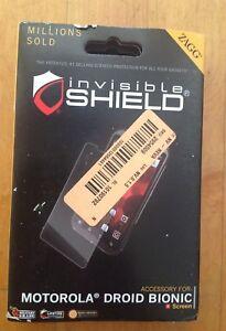 ZAGG Invisible Shield/ Screen Protector for Motorola Droid Bionic