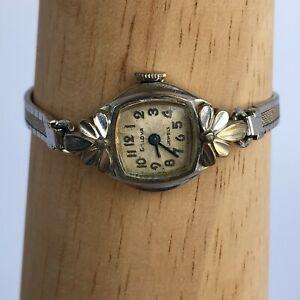 ART DECO Bulova L0 Ladies Wrist Watch 17 Jewels Swiss Made 10K RGP Antique~WORKS