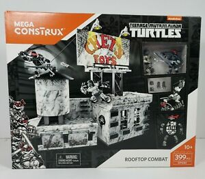 Mega Construx Rooftop Combat Teenage Mutant Ninja Turtles Building Playset TMNT