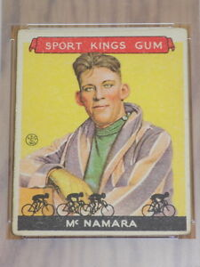 1933 Sport Kings Reggie McNamara Card #15 PSA Fair 1.5 Cycling HOF