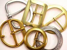 "Clearance Sale: One 2-3"" Large Buckle Metal Designs Girth Heelbar Brass"
