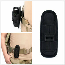 360 Rotating Flashlight Holster Rotate Belt Clip Nylon Torch Pouch Bag ONE