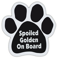 Dog Paw Shaped Magnets: SPOILED GOLDEN ON BOARD (RETRIEVER) | Dogs, Gifts, Cars