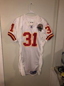 Kansas City Chiefs Priest Holmes Reebok Jersey size 46 Red Yellow White