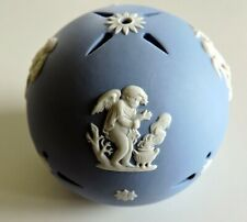 "Wedgwoood - Hanging Potpourri Ball Cherubs Room 3"" Jasperware Uk Pomander"