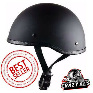 Crazy Al's WORLD'S SMALLEST LIGHTEST SOA Style DOT Flat Black Half Helmet
