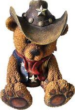 Spardose Sparbüchse Western Bear Cowboy Teddybär 19 cm groß, handbemalt