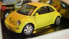 Bburago 1/18 Volkswagen VW New Beetle 1998 gelb in Box #2777