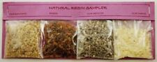 Granular Resin Incense Mixed Variety Sampler Gift Set 4 Fragrances