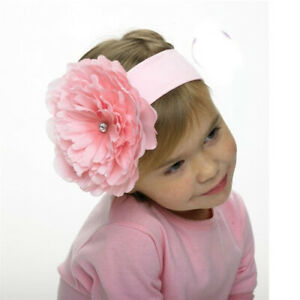 NEW Mud Pie Girl Baby Buds Large Flower Headband Pink