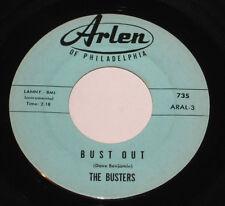 """The Busters 7"""" 45 HEAR Bust Out SURF GUITAR ROCK Astronaut's ARLEN ROCKER"""
