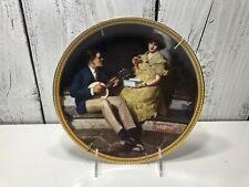 Limited Edition Norman Rockwell Collectible Plate Pondering On The Porch