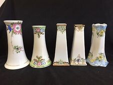 SET OF 5 NIPPON HAND PAINTED HAT PIN HOLDERS