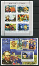 Comoros Comores 2008 MNH Vincent Van Gogh 6v M/S 1v S/S Art Paintings Stamps