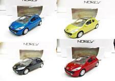 Lot de 4 Peugeot 207 3 Portes (Rouge, Noir, Jaune, Bleu) 1/64 NOREV Neuf !!