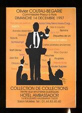 CATALOGUE VENTE  COLLECTION DE COLLECTIONS  14/12/1997  JOUETS + BD + PLAQUES...