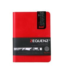 """Zequenz 360 Soft Bound Journal Notebook Small 4.24 x 5.5"""" Red , Grid, 400 Pages"""
