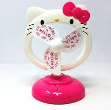 """Hello Kitty 8"""" Portátil Escritorio Ventilador De Refrigeración Ventilador de verano de carga USB de oficina en el hogar"""