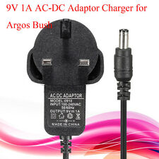 UK Plug Adaptor Charger 9V 1A AC-DC For Argos Bush Portable DVD Player 10'' Inch