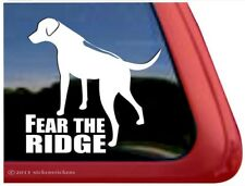 Fear the Ridge |High Quality Rhodesian Ridgeback Vinyl Dog Decal Sticker