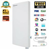 ANTOP 80 Miles Outdoor/Attic Amplified HDTV Antenna with Signal Booster(AT-403B)