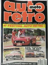Revue AUTO RETRO moto magazine n° 95 - juillet 1988 collection fregate facel hk