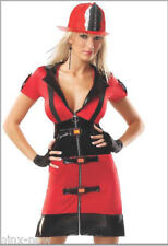 Coquette FIREFIGHTER Women's Fancy Dress Costume Size S/M fits 8-10