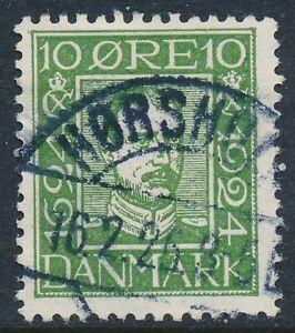 Denmark Scott 164/AFA 132, 10ø green Postal Anniversary, F-VF Used