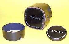 Canon Hood S-60 and Metal Front Lens Cap w/Case for AUTO ZOOM 814 ELECTRONIC